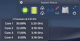 System Status Min View with CPU Activity